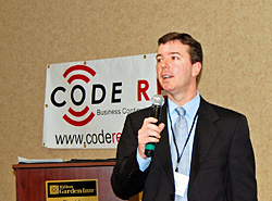 paul dacey speaks at the code red annual business continuity conference